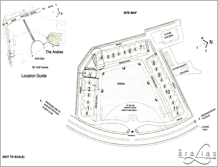 DLF The Aralias Site Plan